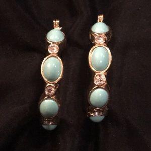 CN Turquoise hoop earrings